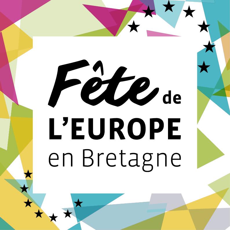 visuel de communication pour la fête de l'Europe en Bretagne, mai 2021